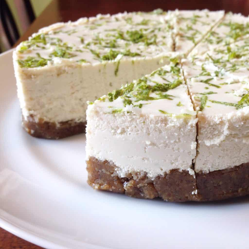 Key Lime Cheesecake (Vegan & Paleo) - PrettyPIes.com