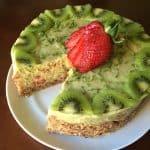 Strawberry Lime Avocado Pie