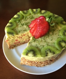 Strawberry Lime Avocado Pie