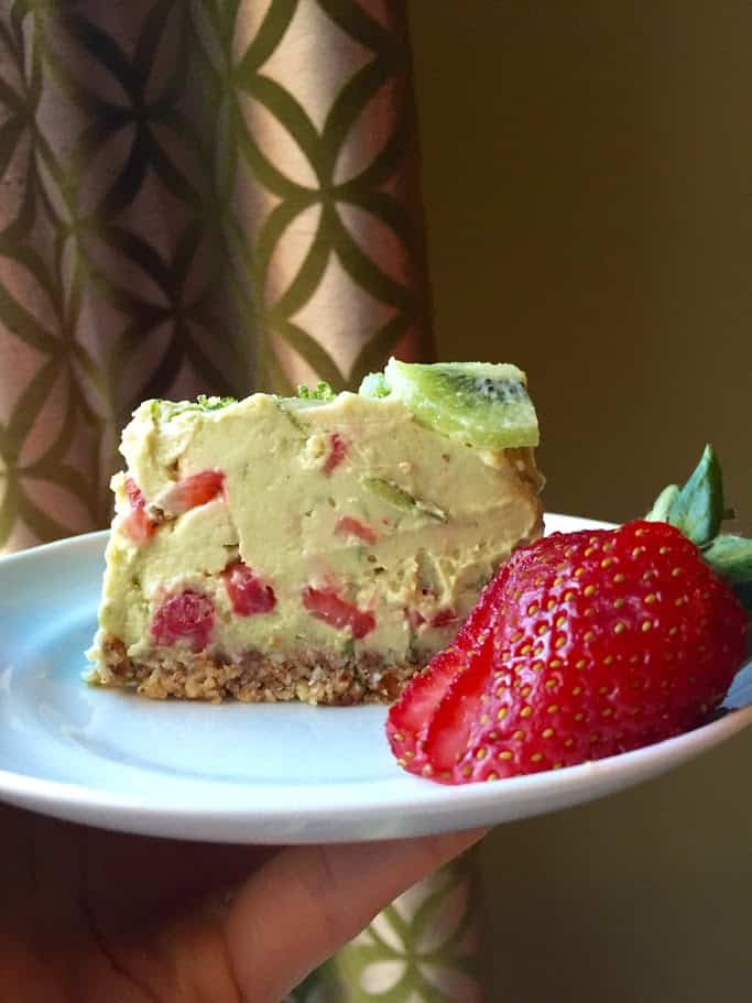 Strawberry Lime Avocado Pie 5