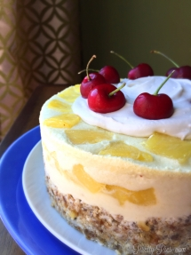 Frozen Pina Colada Cake (with zucchini!) vegan Pretty Pies
