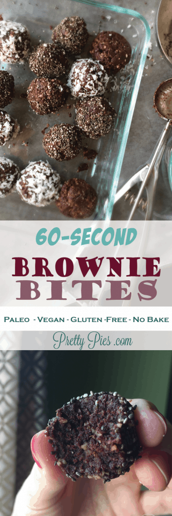 60-Second Brownie Bites | PrettyPies.com