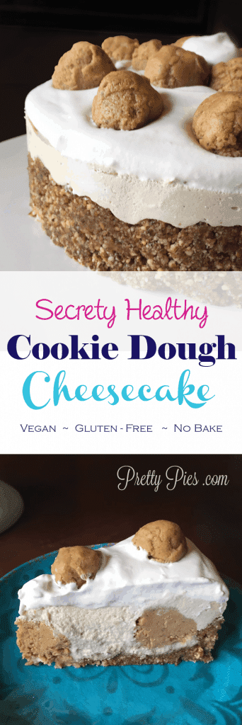 Secretly Healthy Cookie Dough Cheesecake from Pretty Pies