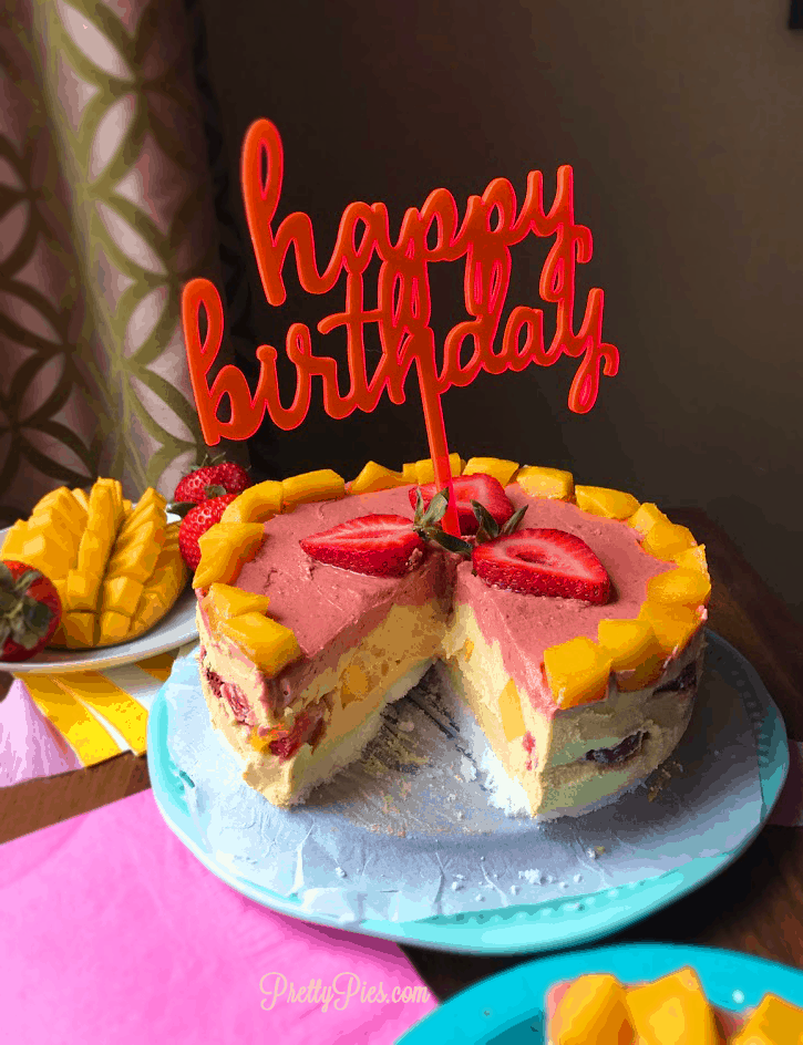 Mango Berry Cheesecake - Pretty Pies