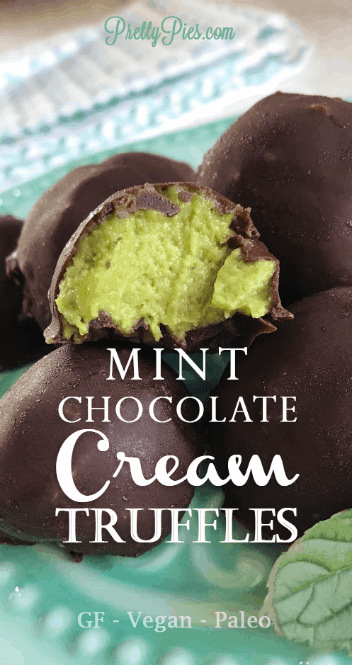 Mint Chocolate Cream Truffles - PrettyPies.com