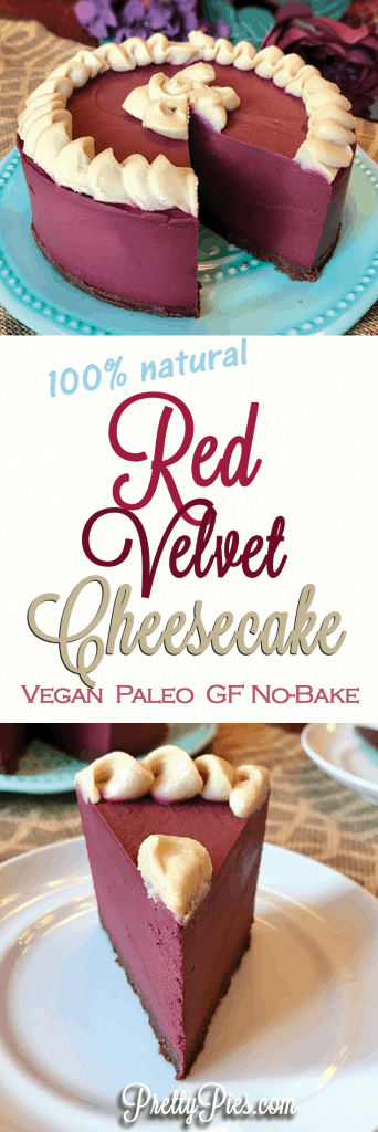 Red Velvet 'Cheesecake' - (Vegan, Paleo) PrettyPies.com