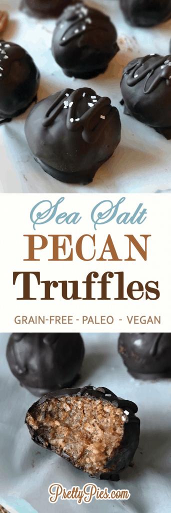 Pecan Truffles (Vegan, Paleo) - PrettyPies.com