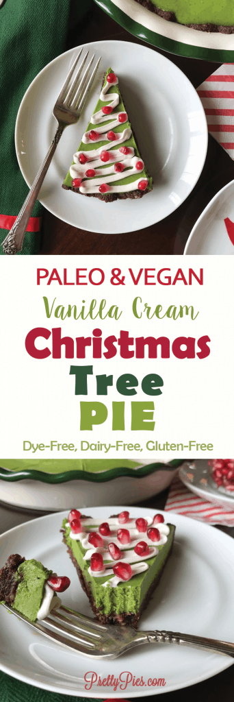 Christmas Tree Pie (Paleo, Vegan, Dye-Free) - PrettyPies.com