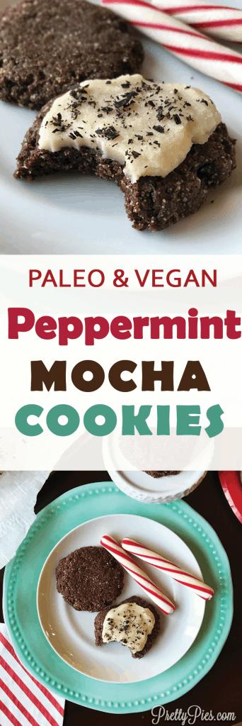 Peppermint Mocha Cookies (Paleo, Vegan) - PrettyPies.com
