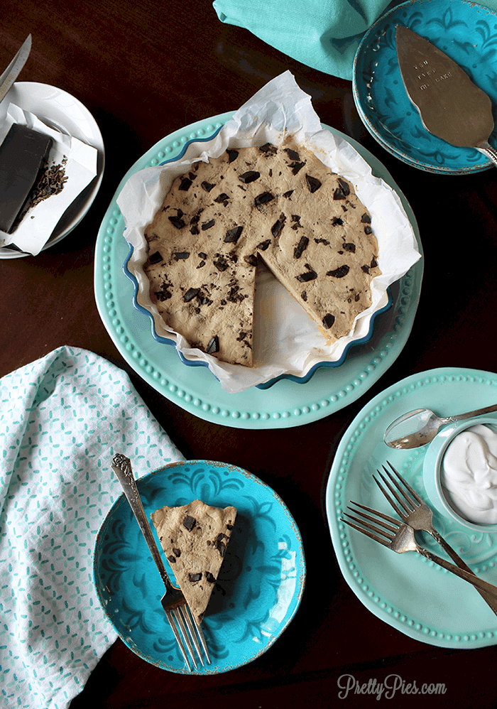 Healthy Cookie Dough Pie (Low-Carb, Vegan, Paleo) - PrettyPies.com