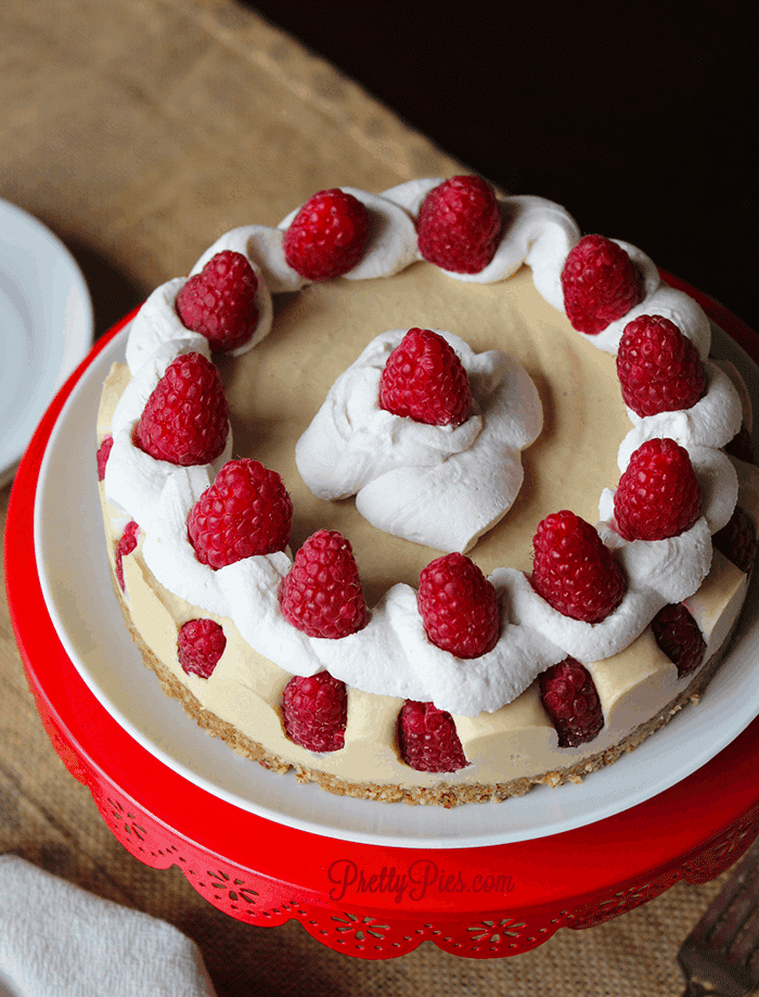 White Chocolate Raspberry Cheesecake!! (Vegan & Paleo)