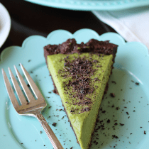 Grasshopper Pie {Vegan & Paleo} PrettyPies.com