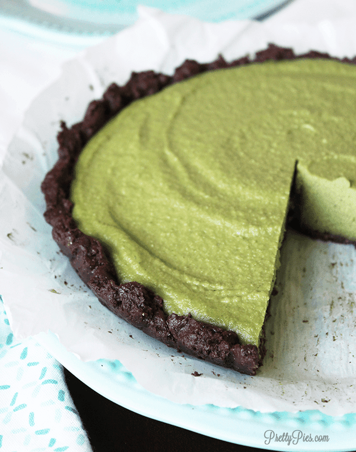 Grasshopper Pie (Paleo Vegan} PrettyPies.com