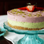 Low-Carb Strawberry Lime Cheesecake (Vegan, Paleo) PrettyPies.com