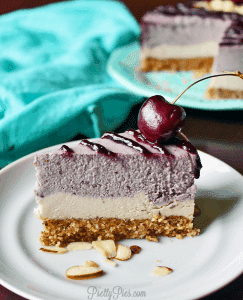 Cherry Almond Cheesecake (Vegan & Paleo) PrettyPies.com