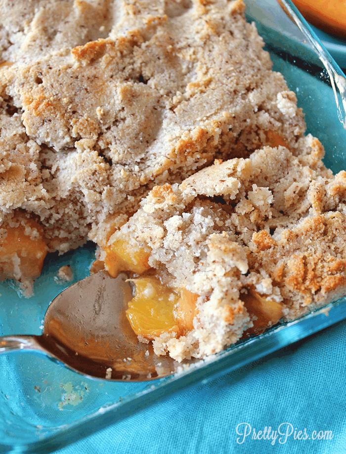 Peach Cobbler (Gluten-Free< Dairy-Free) PrettyPies.com