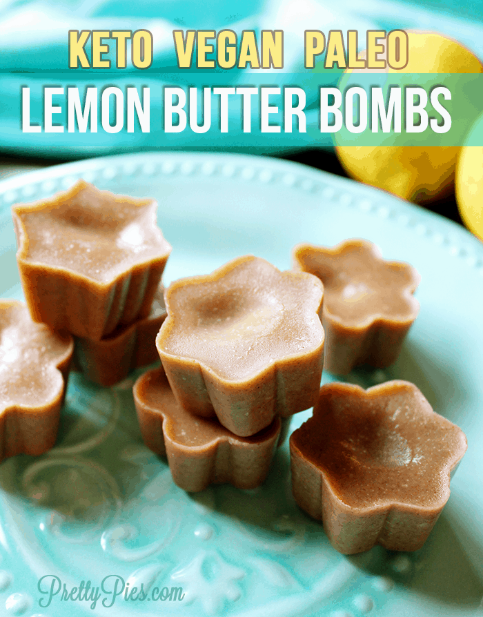 BEST fat bomb for sure! Lemon Butter Bombs. Melt in your mouth SILKY lemon deliciousness and just ONE GRAM net carbs. Dairy-free, vegan & Paleo approved | #lowcarb #keto #cleaneating recipe from Pretty Pies