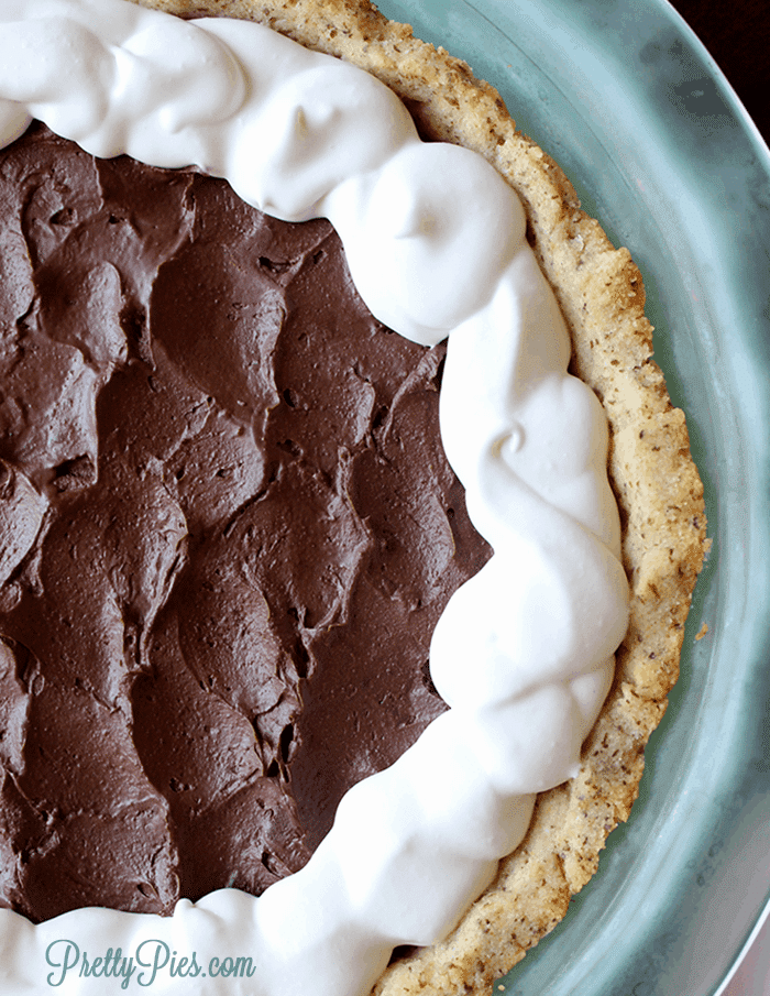 Chocolate Pie (Low-Carb, Paleo, Vegan) PrettyPies.com