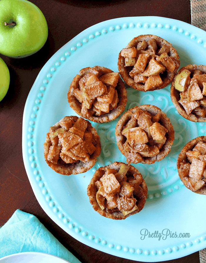 Apple Pie Cookie Cups (Gluten/Dairy/Sugar-Free) PrettyPies.com