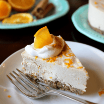 Orange Spice Cheesecake (Low-Carb, Paleo, Vegan) PrettyPies.com