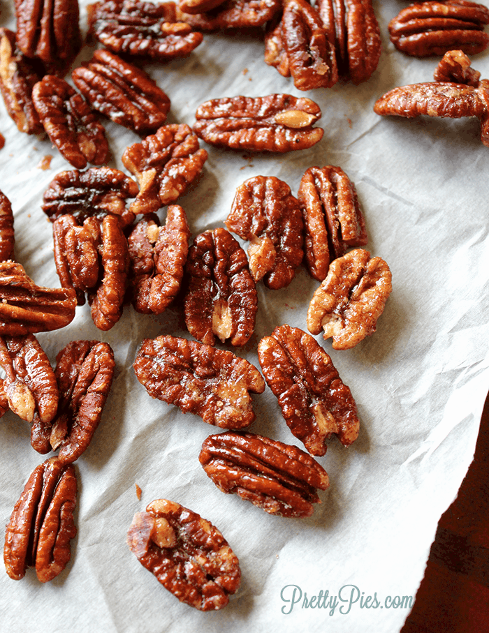 5-Minute Sugar-Free Candied Pecans (Keto, Paleo, Vegan) PrettyPies.com