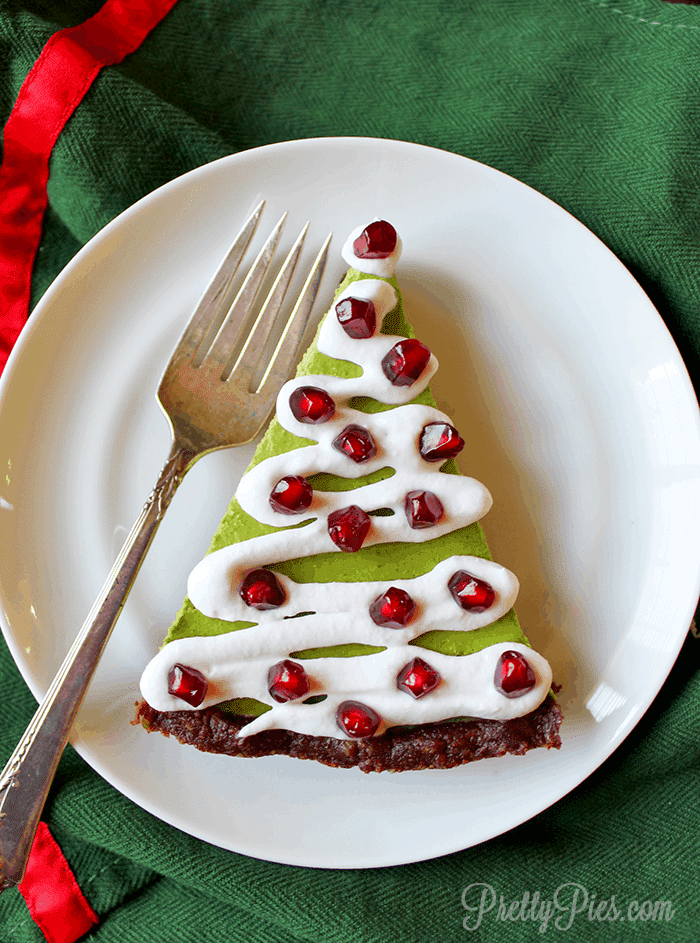 Low Carb Christmas Tree Pie (Paleo, Vegan) PrettyPies.com