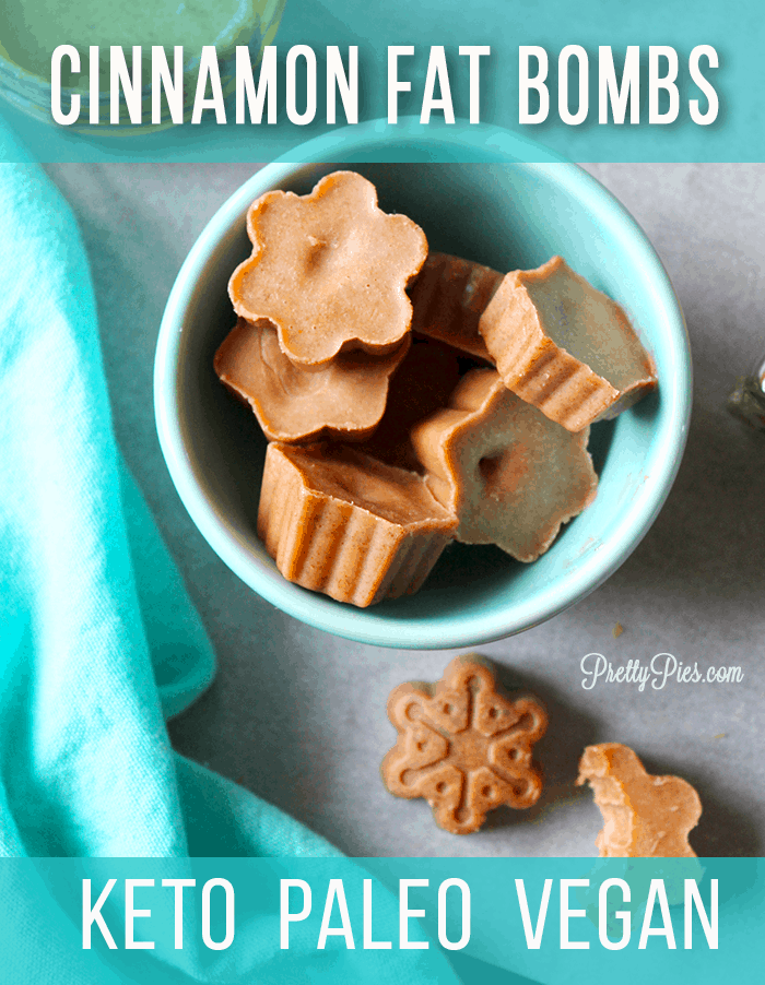 Cinnamon Fat Bombs keep you full and satisfied using healthy fats and no dairy or sugar. Less than 1 net carb each so they're perfect for keto diets! #fatbombrecipe