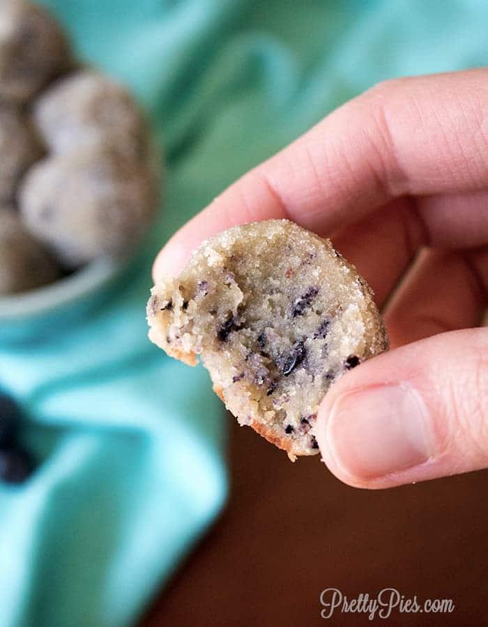 Blueberry Donut Holes (Keto, Paleo, Vegan) PrettyPies.com