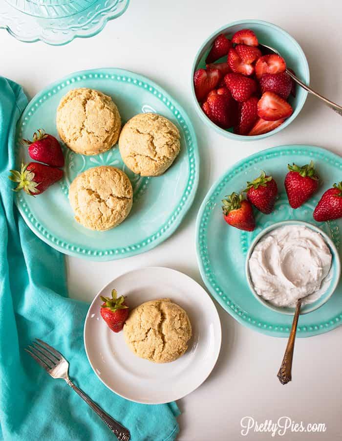 Strawberry Shortcake (Keto, Paleo, Vegan) PrettyPies.com