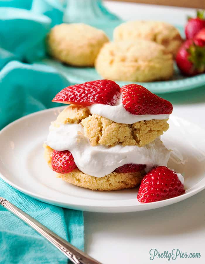 Strawberry Shortcake (Keto, Paleo, Vegan) PrettyPies.com