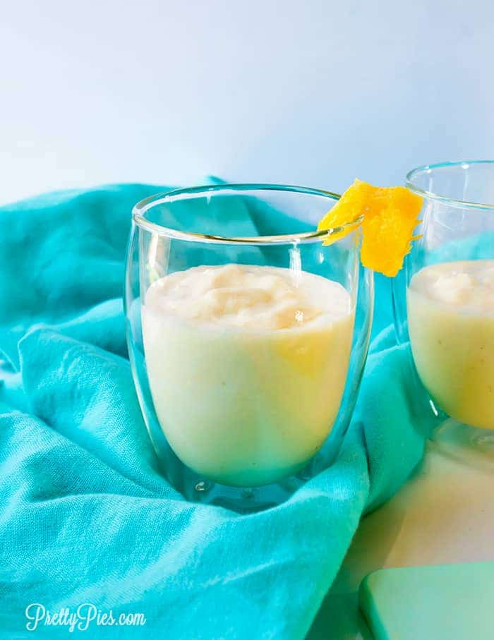 Pina Colada Smoothie (Paleo, Vegan, No Sugar Added) PrettyPies.com