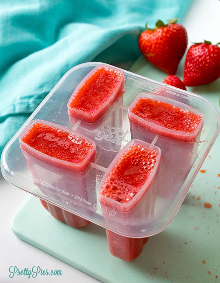 Strawberry Lime Popsicles (Keto, Paleo, Vegan) PrettyPies.com