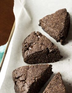 Low-Carb Chocolate Scones (Dairy-Free, Paleo, Vegan) - PrettyPies.com