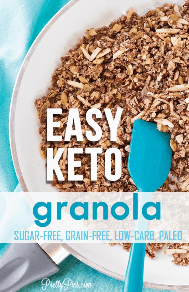 Easy Keto Granola, PrettyPies.com