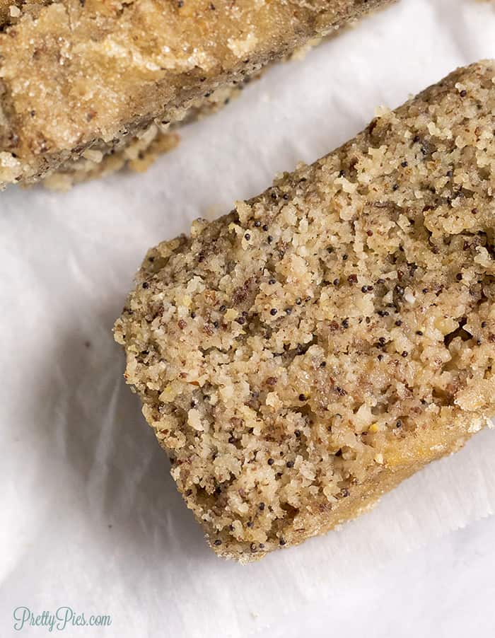 Low-Carb Poppyseed Bread - Paleo, Vegan, PrettyPies.com