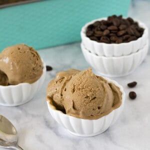 Coffee Ice Cream (Dairy-Free, Keto, Paleo, Vegan) PrettyPies.com