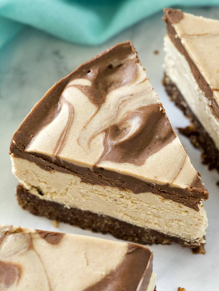 dairy free peanut butter cup cheesecake
